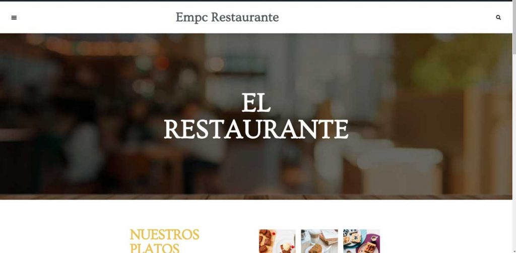diseño web restaurante